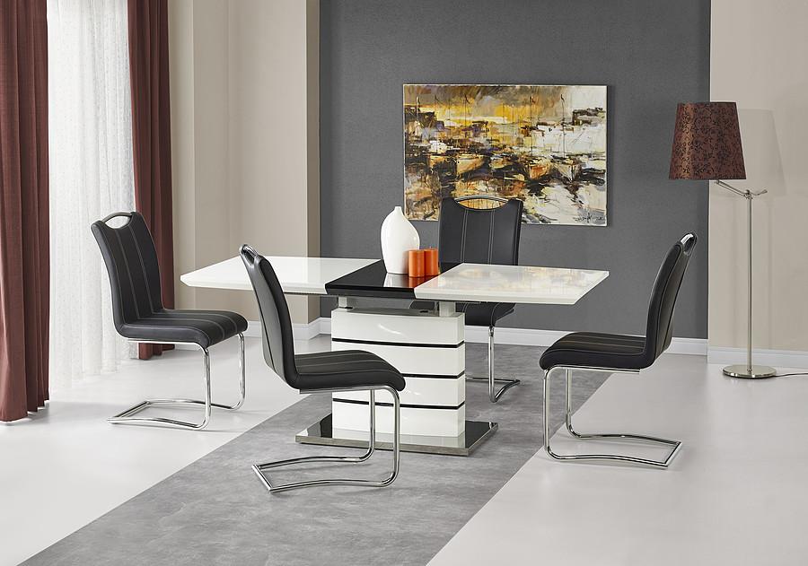 Stół biało-czarny