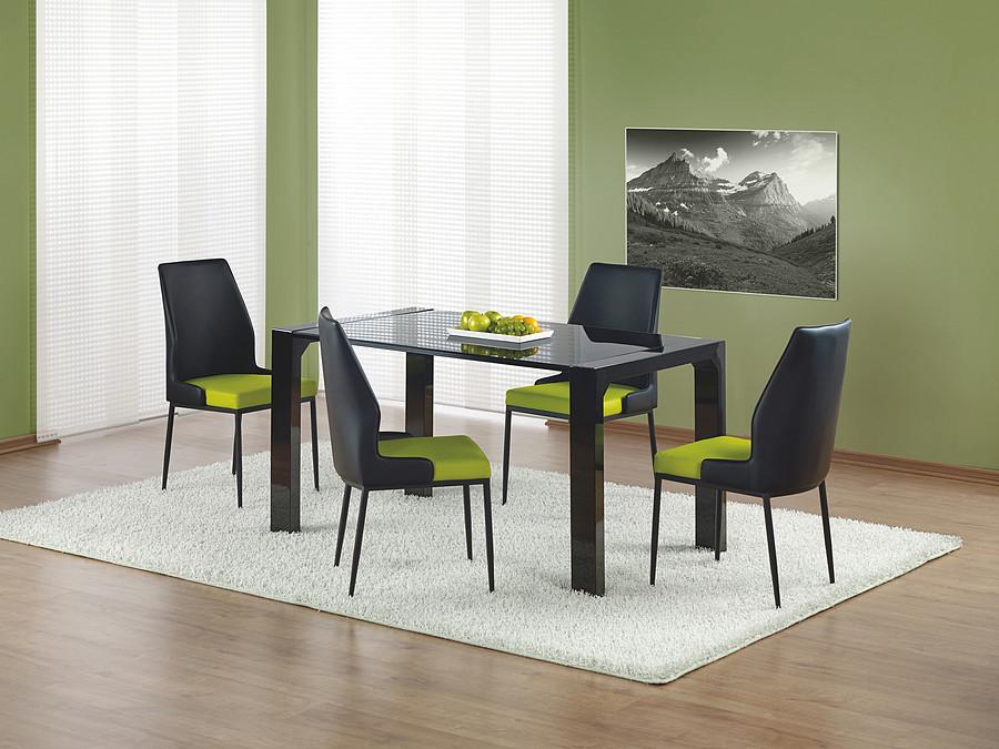 Stół czarny lakierowany