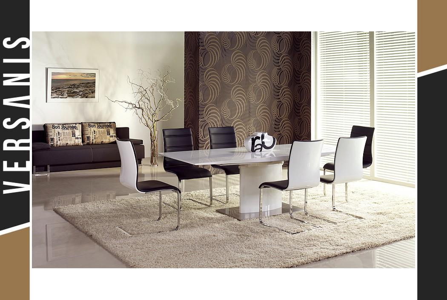 Stół rozkładany biały , prestige line