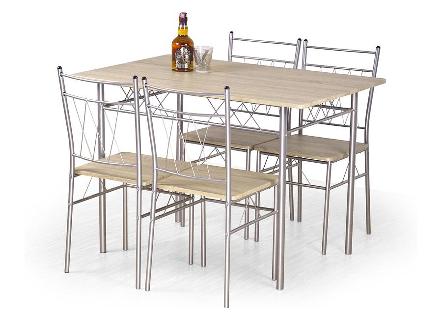 Zestaw stół + 4 krzesła dąb sonoma